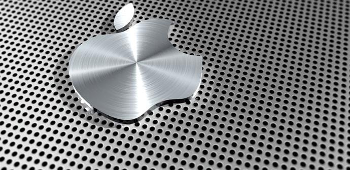 Logo metalico de Apple