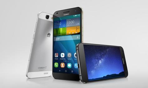 Huawei Ascend G7 en negro y blanco