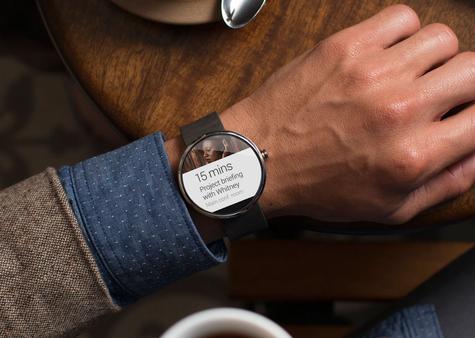 Motorola Moto G en la muñeca