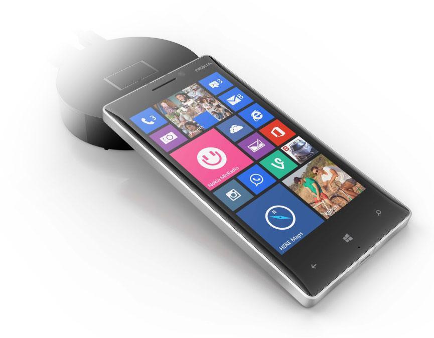 Nokia Lumia 830 con cargador inalámbrico