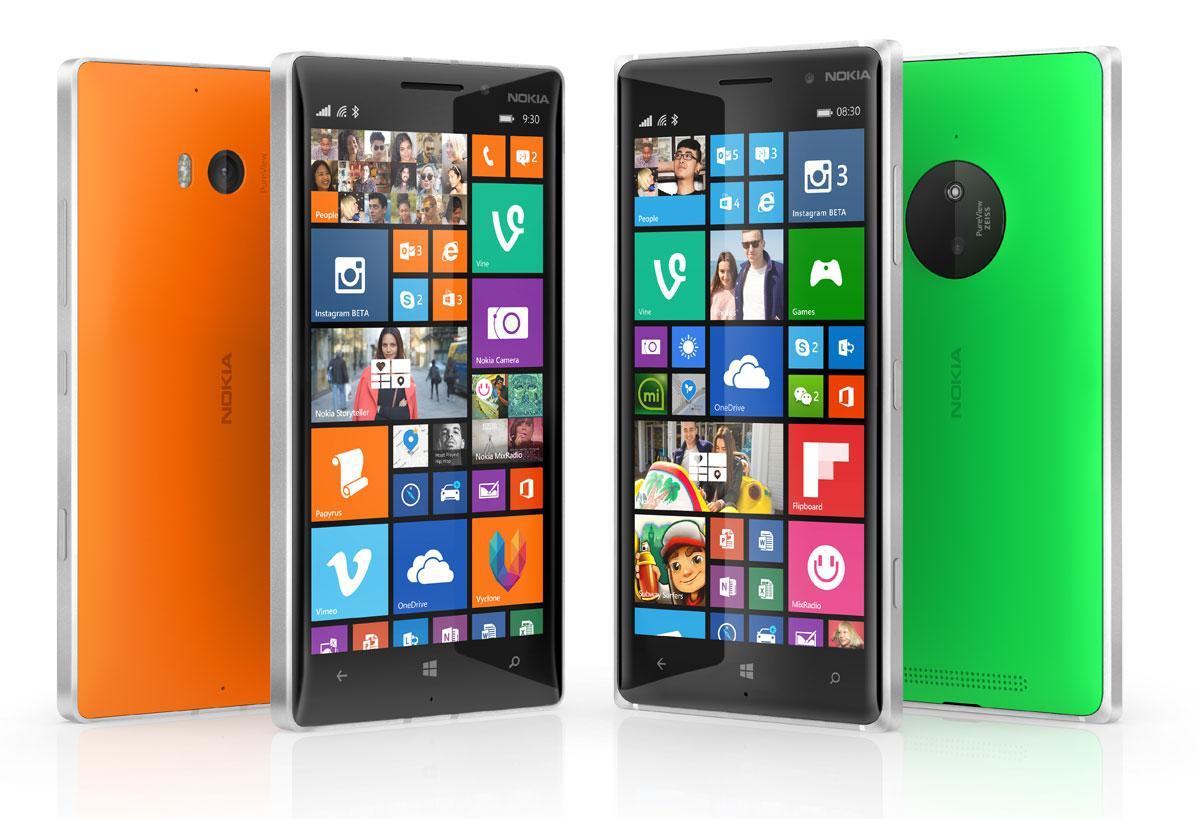 Nokia Lumia 830 en varios colores