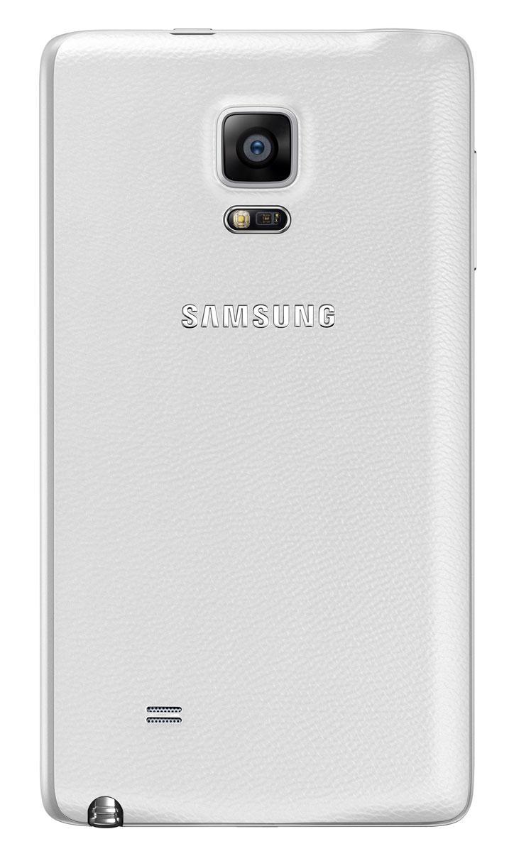 Samsung Galaxy Note Edge en color blanco vista tarsera