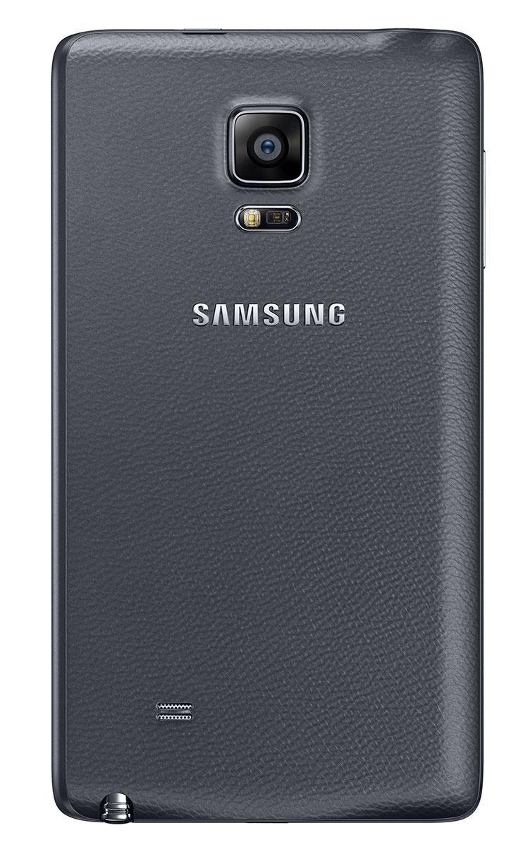 Samsung Galaxy Note Edge en color negro vista trasera