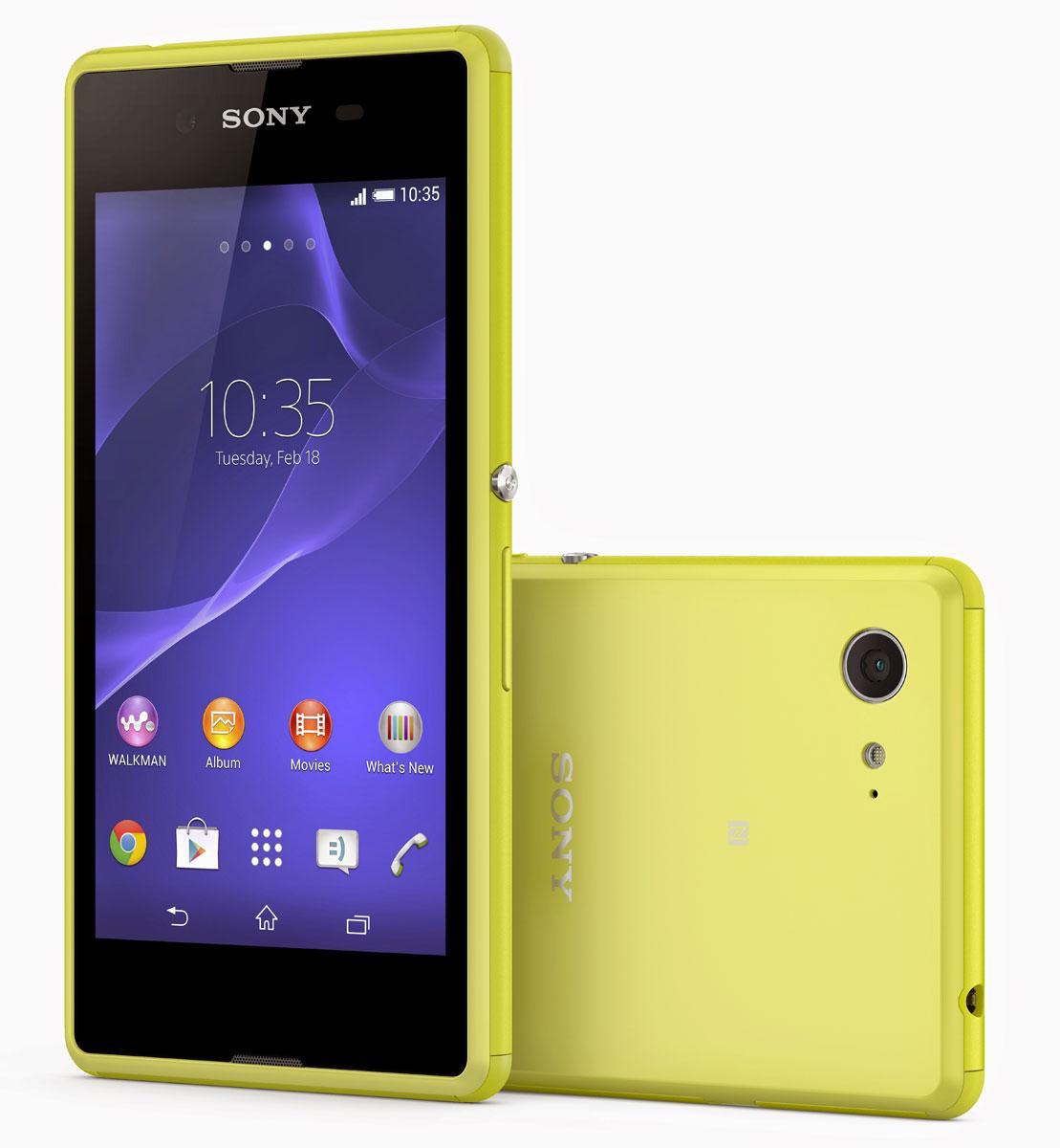 Sony Xperia E3 en color amarillo