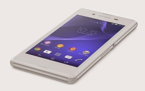 Sony Xperia E3 en color blanco