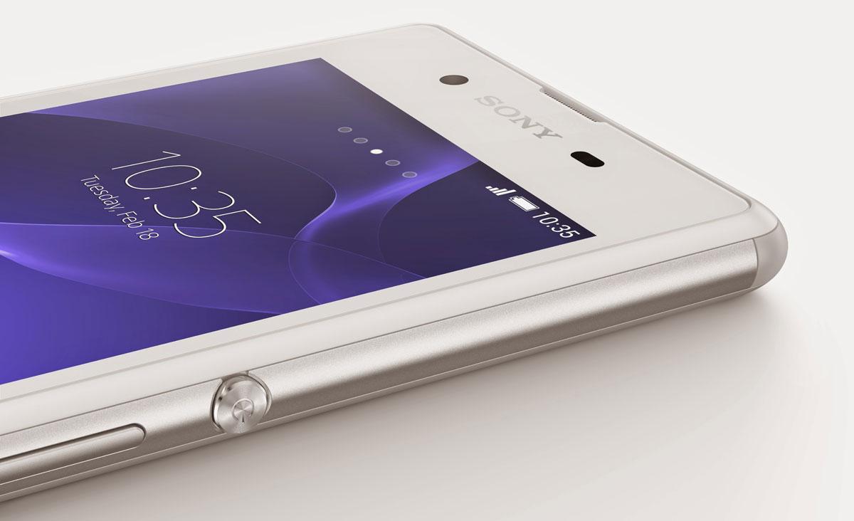Sony Xperia E3 detalle del botón de encendido