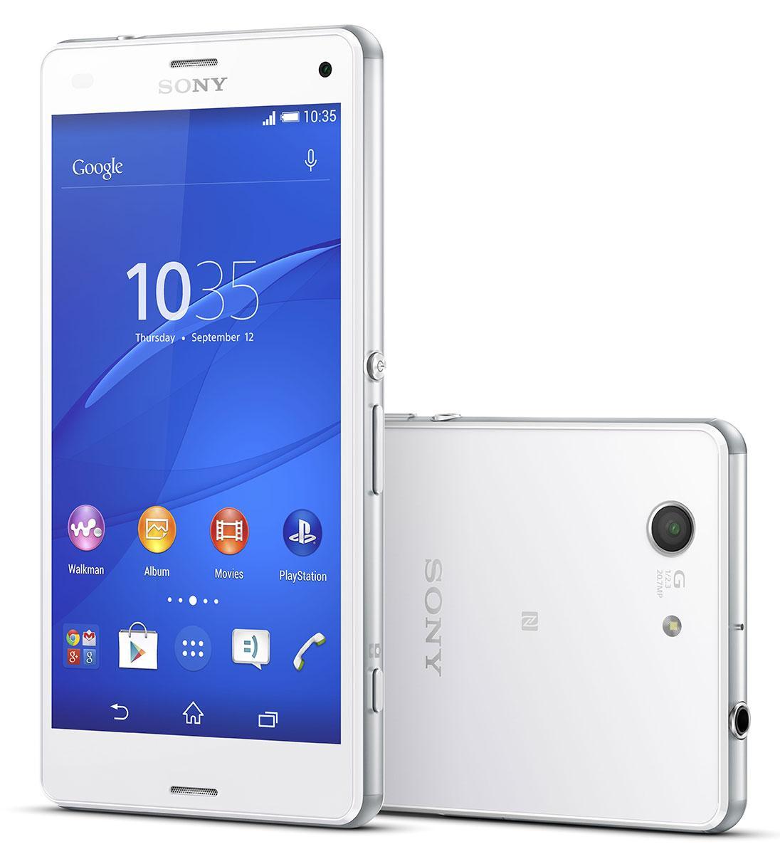 Sony Xperia Z3 Compact en color blanco