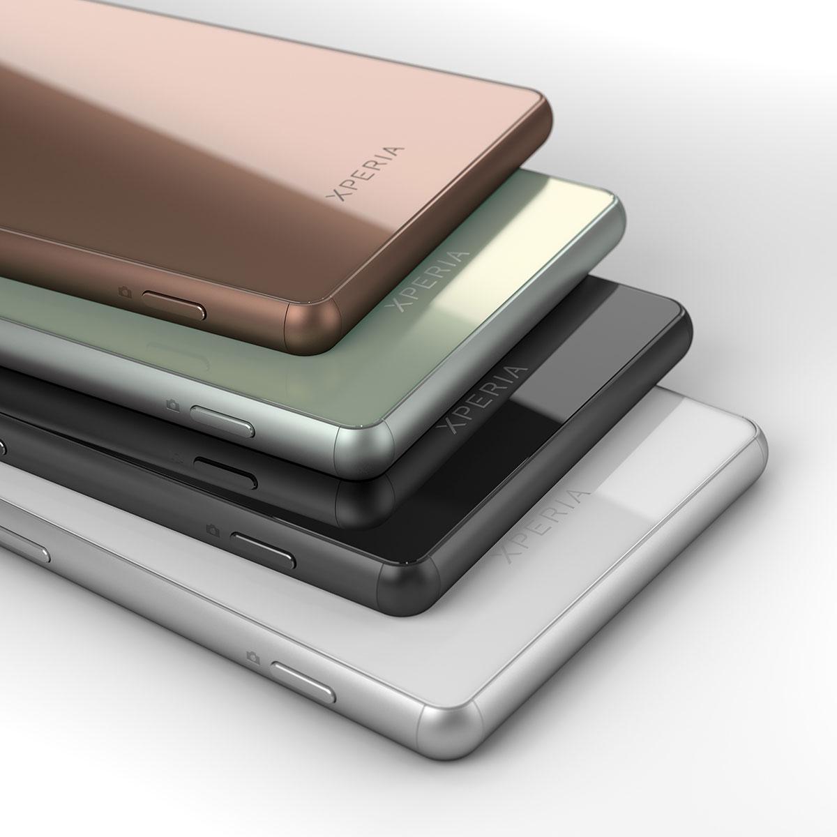 El Sony Xperia Z3 en color negro, blanco, verde y cobre
