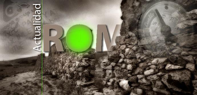 Actualidad ROM en color verde y gris