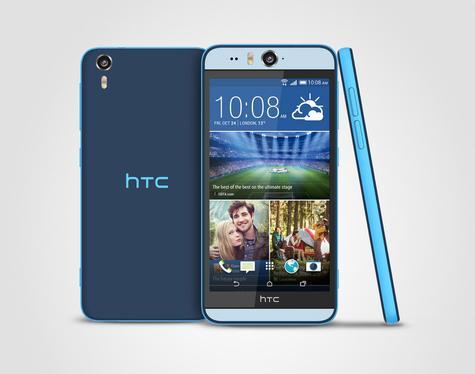 HTC Desire Eye vista frontal, lateral y trasera