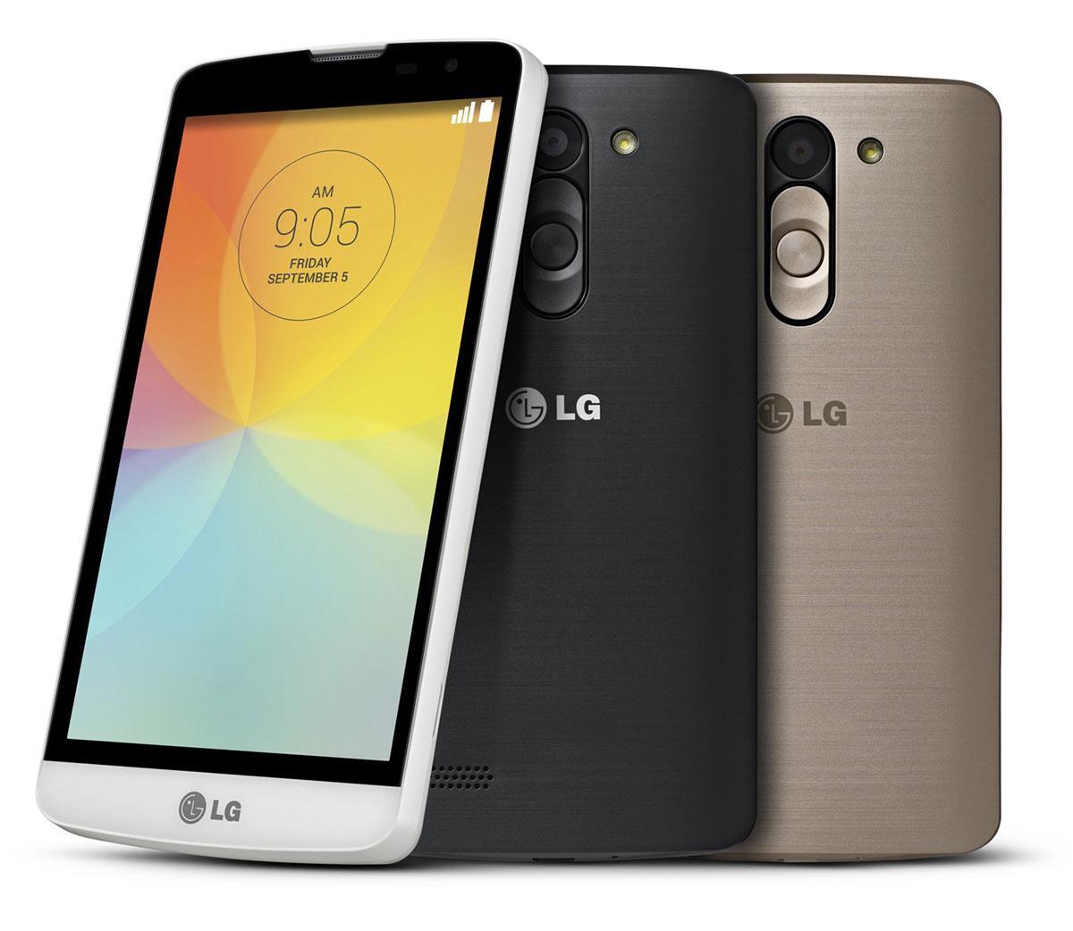 LG Bello en blanco, negro y plata