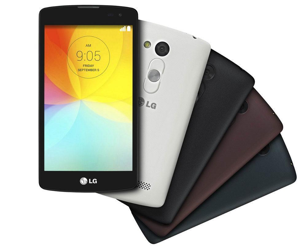 LG L Fino en negro, blanco y marrón