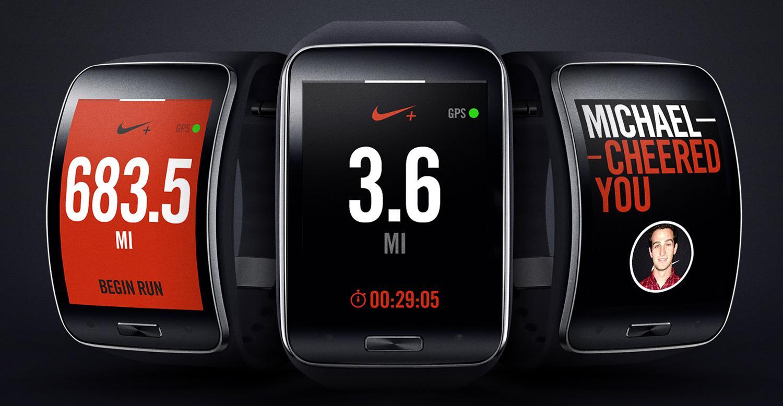 Samsung Gear S con aplicación de Nike