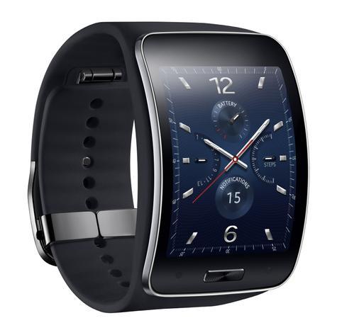 Samsung Gear S con esfera en colores azules