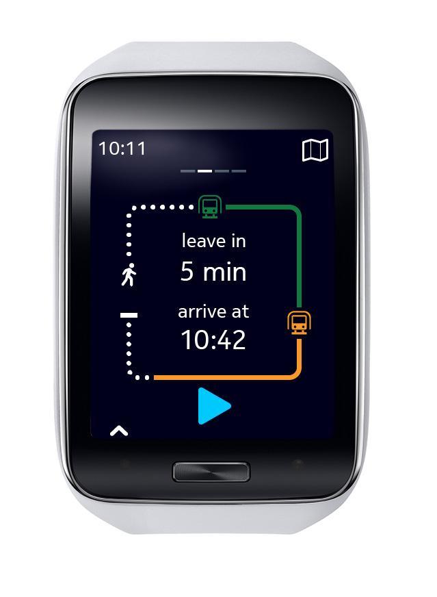 Samsung Gear S pantalla de aplicación