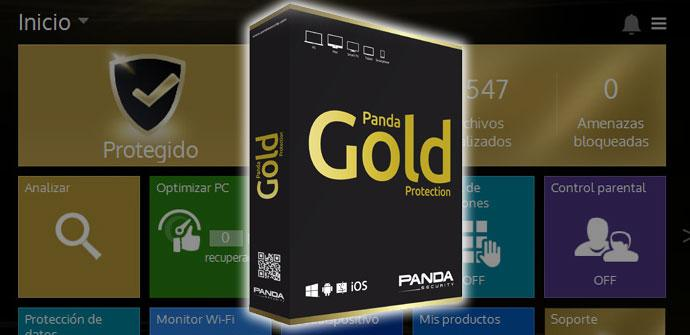 Caja de producto de Panda Gold 2015