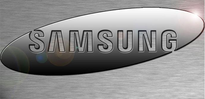 Logo de Samsung aluminio