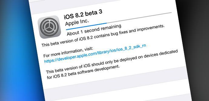 Version Beta de iOS 8.3