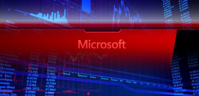 Nombre de Microsoft en color rojo
