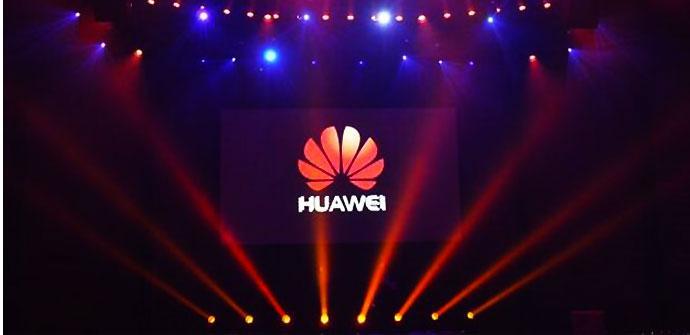 Logo de Huawei iluminado
