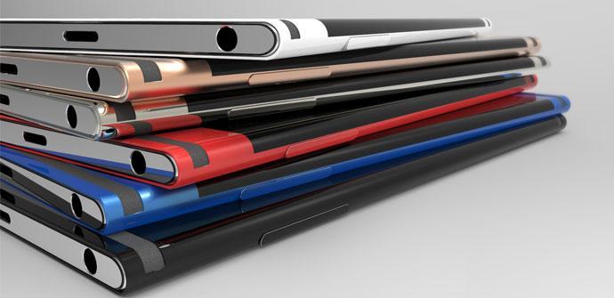 Imagen conceptual del Sony Xperia Curve