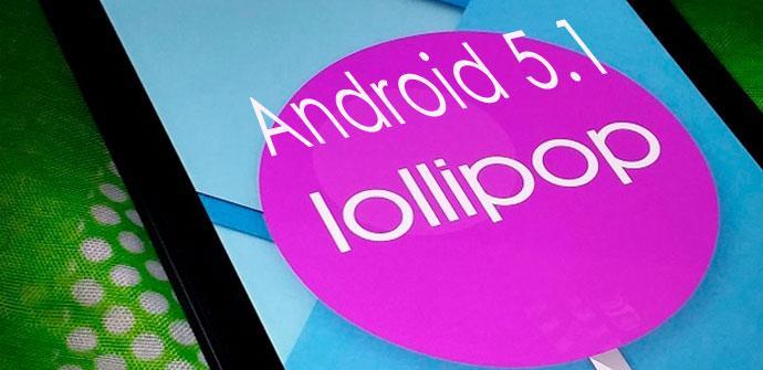 Captura de pantalla de Android 5.1 Lollipop