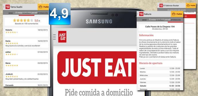 Imagen con logo de Just Eat