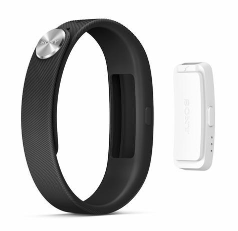 Sony Smartband Talk en blanco con pulsera negra