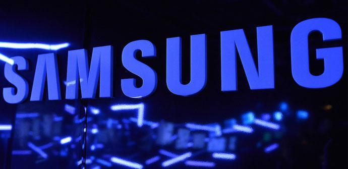 Samsung logo en metal