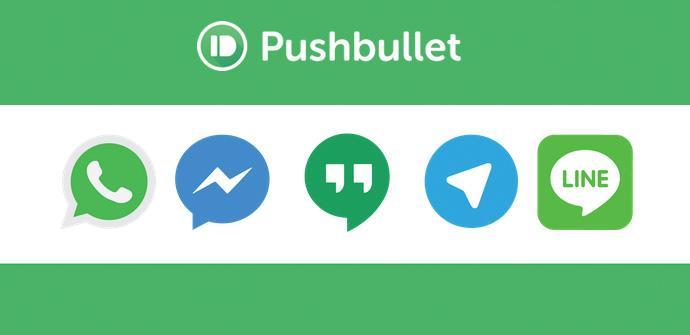 Pushbullet deja contestar WhatsApp, Line, etc.