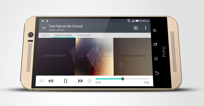 HTC One M9 reproduciendo vídeo