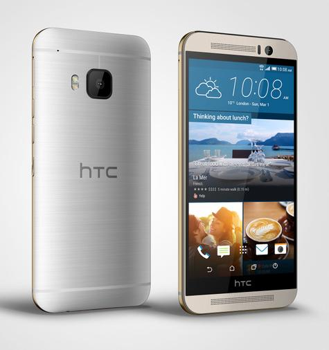 HTC One M9 vista delantera y trasera