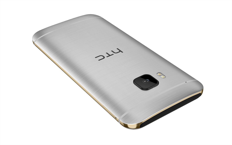 HTC One M9 en color plateado vista trasera