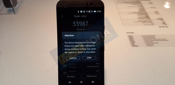 Prueba del HTC One M9