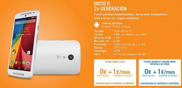 Oferta del Motorola Moto G Yoigo