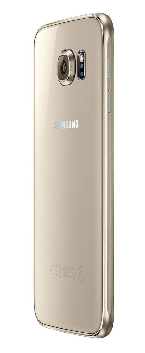 Samsung Galaxy S6 vista trasera en color oro