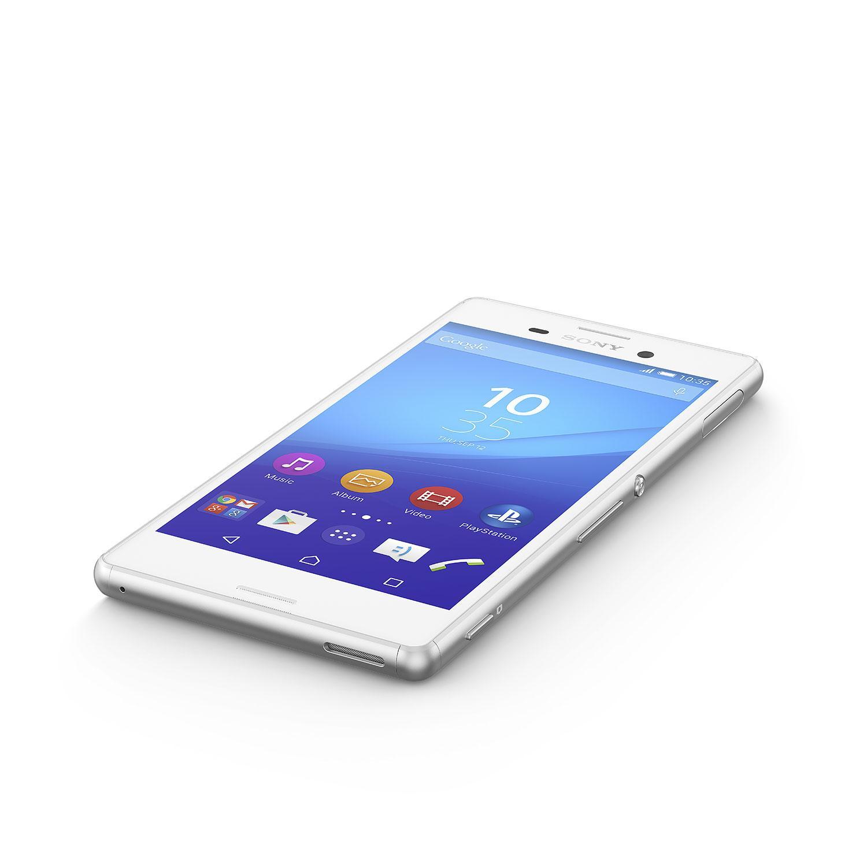 Sony Xperia M4 Aqua en color blanco vista frontal