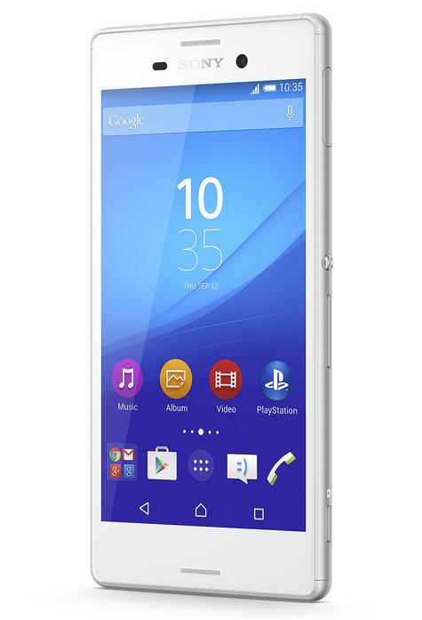 Sony Xperia M4 Aqua en color blanco vista lateral