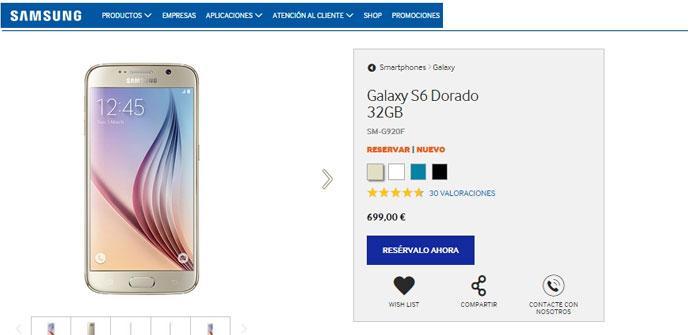 Venta anticipada del Samsung Galaxy S6