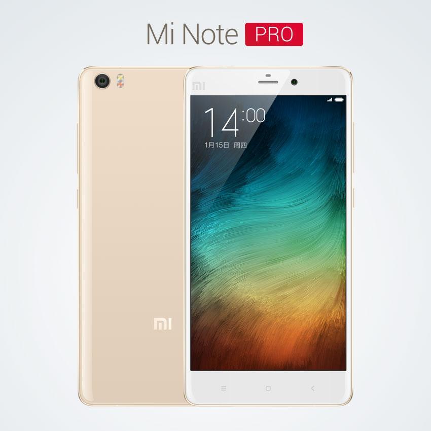 Xiaomi Mi Note Pro en color blanco y vista de la cámara en color blanco y trasera en color oro