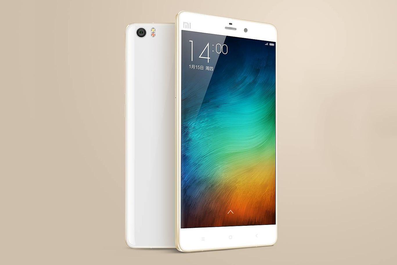 Xiaomi Mi Note Pro en color blanco y vista de la cámara