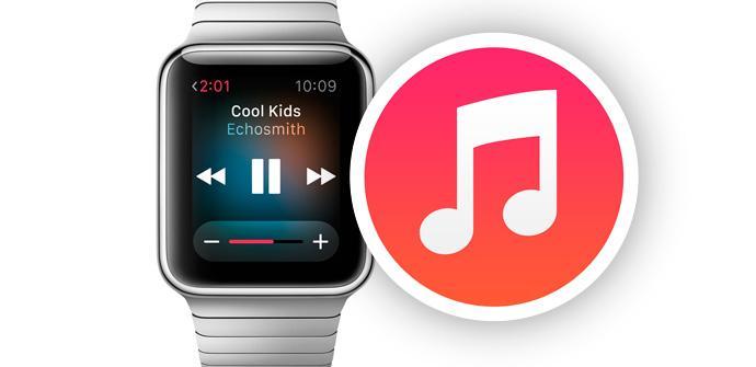 Apple Watch playlist con iTunes.