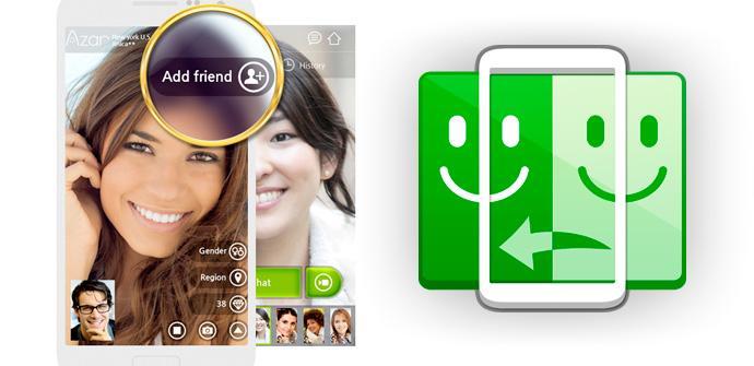 Azar, chats en vivo de vídeo para Android.