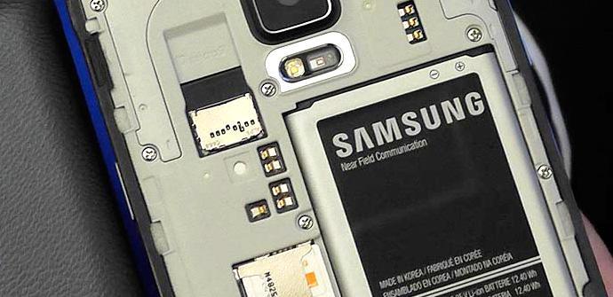 Samsung Galaxy Note 4 batería.