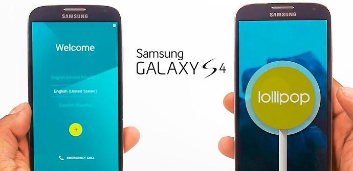 Galaxy S4 Lollipop.
