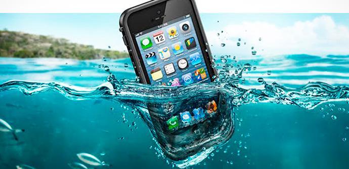 Apple y sus dispositivos protegidos del agua.