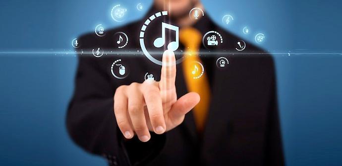 Música en 'streaming' en dispositivos móviles.