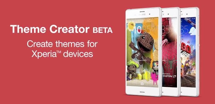 Sony Theme Creator para dispositivos Xperia.