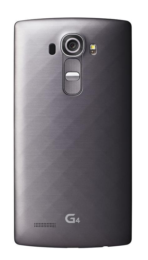 LG G4 detalle de la cámara y carcasa en color negro