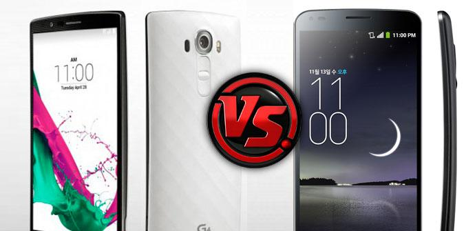 Comparativa LG G4 vs LG G Flex 2.